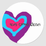 "Heart Sticker ""Love Came Down"" by GDaisy"