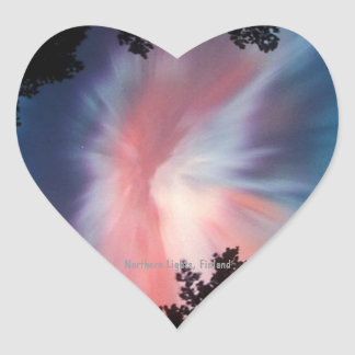Heart Sticker, Northern Lights Heart Sticker