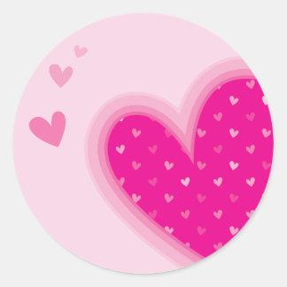 HEART STICKER SEAL :: funky hearts 1