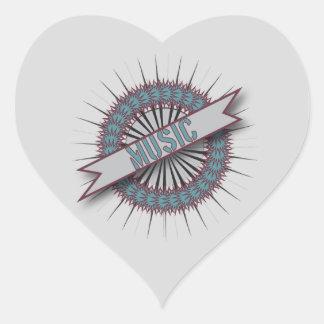 Heart Stickers MUSIC CIRCLE LOGO