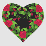 Heart Stickers-Red Roses Heart Sticker