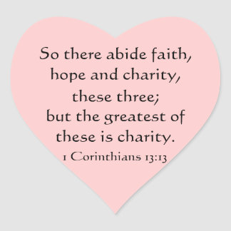 Heart stickers,scripture, faith, hope, love