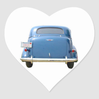 Heart Stickers, Vintage Blue Chevy Father's Day Heart Sticker