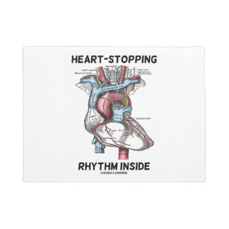 Heart-Stopping Rhythm Inside Anatomical Heart Doormat