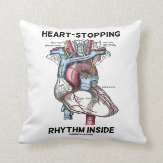Heart-Stopping Rhythm Inside Anatomical Heart Throw Pillow