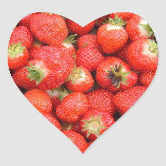 Heart Strawberries Sticker