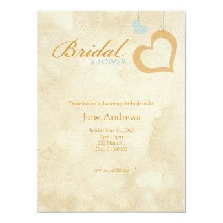 Heart Strings Bridaly Shower - Blue & Orange Card