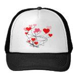 heart strings mesh hat