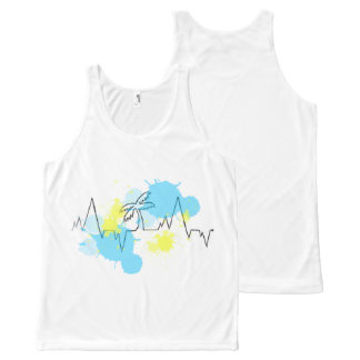 Heart Strings Sleeveless Uni-sex All-Over-Print Tank Top