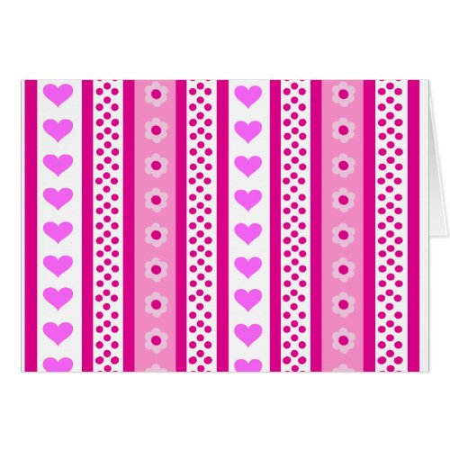 heart stripe card