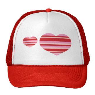 Heart Stripes Trucker Hats