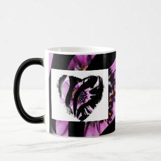 Heart Stripes 11 Oz Magic Heat Color-Changing Coffee Mug