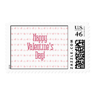 Heart Stripes Postage Stamp
