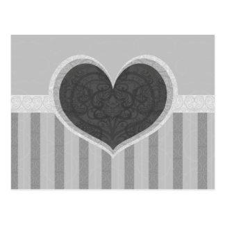 Heart Stripes Postcard