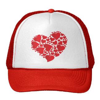Heart style trucker cap hat love