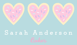 Cookie business cards zazzle heart sugar cookie business card for bakers colourmoves
