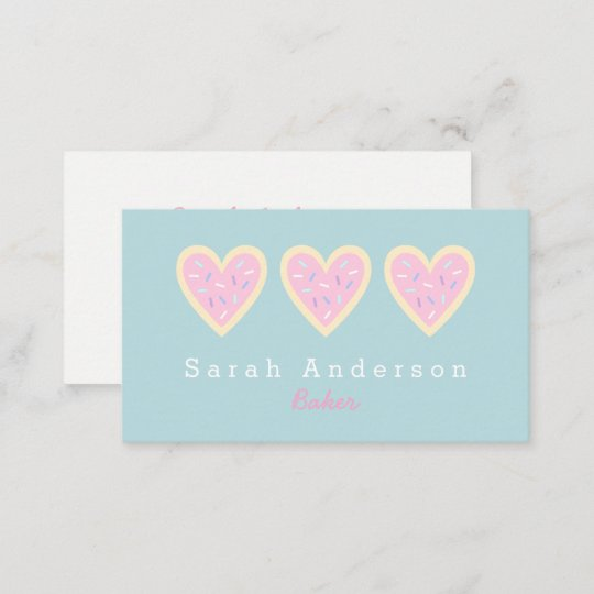 Heart sugar cookie business card for bakers zazzle heart sugar cookie business card for bakers colourmoves