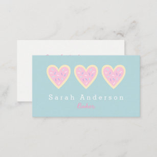 Heart business cards zazzle heart sugar cookie business card for bakers reheart Images