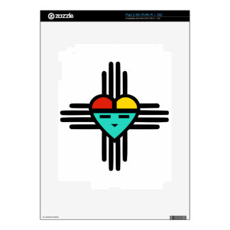 Heart Sun God iPad 2 Skin