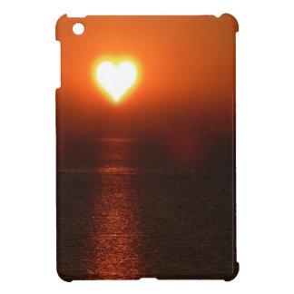 Heart sun sea sunset cover for the iPad mini