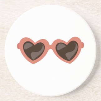 Heart Sunglasses Coaster