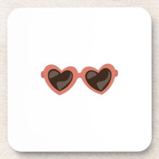 Heart Sunglasses Beverage Coaster