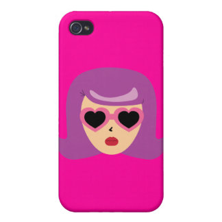 Heart Sunglasses Cover For iPhone 4