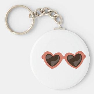 Heart Sunglasses Key Chains