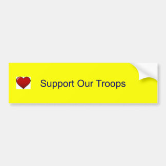heart, Support Our Troops Bumper Sticker