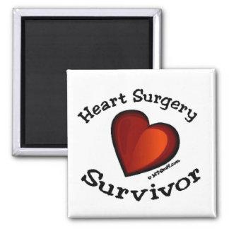 Heart Surgery Survivor 2 Inch Square Magnet