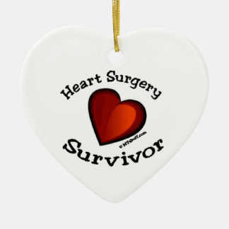 Heart Surgery Survivor Ceramic Ornament
