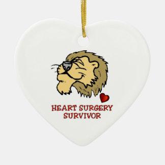 Heart Surgery Survivor Lion Ceramic Ornament
