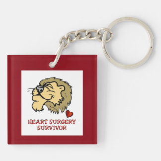 Heart Surgery Survivor Lion Keychain