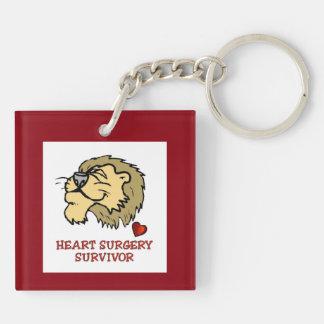 Heart Surgery Survivor Lion Keychain