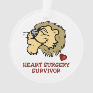 Heart surgery Survivor Lion Ornament