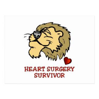 Heart Surgery Survivor Lion Postcard