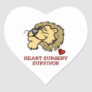 Heart Surgery Survivor Lion Heart Sticker