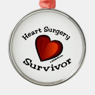 Heart Surgery Survivor Metal Ornament