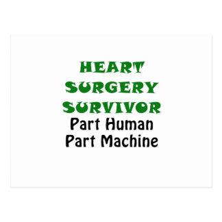 Heart Surgery Survivor Part Human Part Machine Postcard