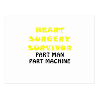 Heart Surgery Survivor Part Man Part Machine Postcard