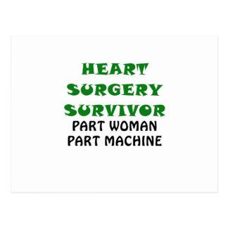 Heart Surgery Survivor Part Woman Part Machine Postcard