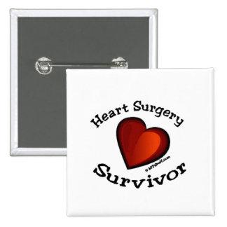 Heart Surgery Survivor Pinback Button