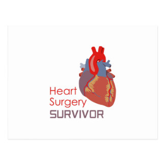 HEART SURGERY SURVIVOR POSTCARD