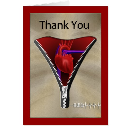 Heart Surgery Thank You Card
