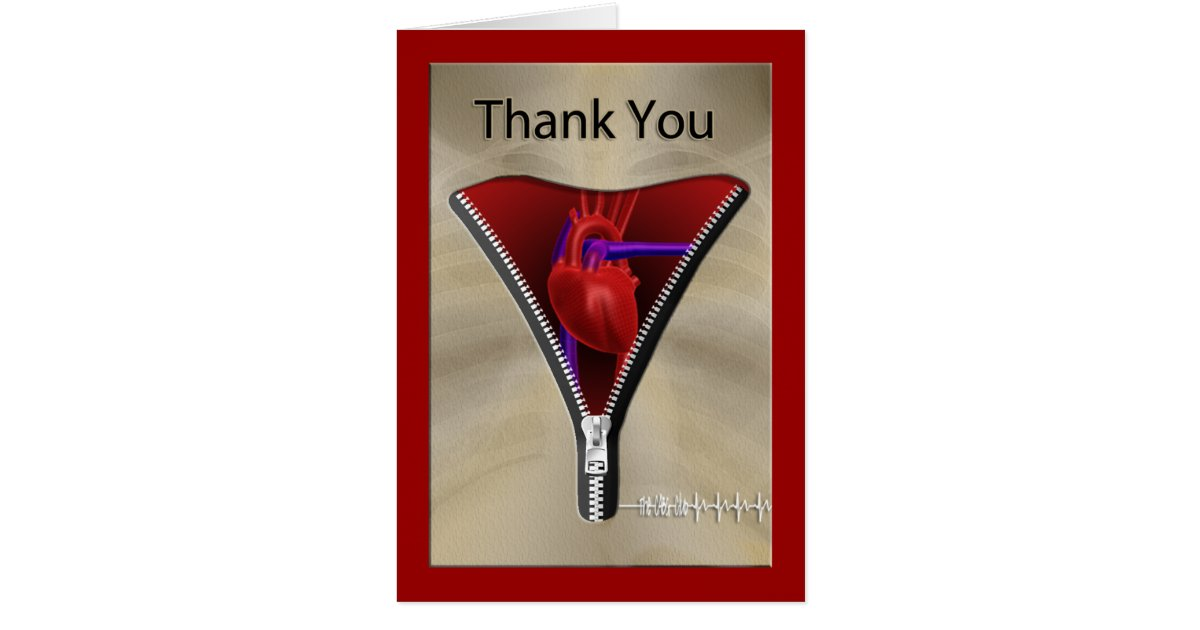 Heart Surgery Thank You Card Zazzle Com