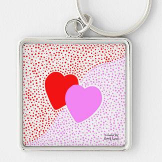 Heart Surprise Premium Square Key Chain