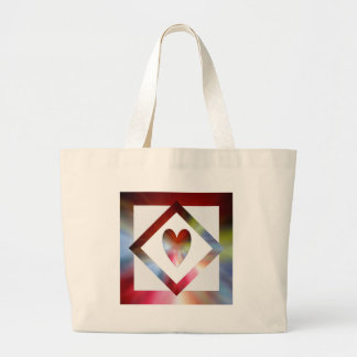 Heart Suspended Large Tote Bag