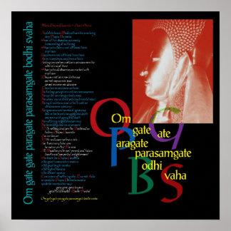 Heart Sutra - Buddha Poster