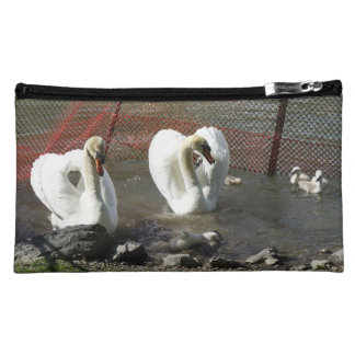 Heart Swans and Babe Cosmetics Bags