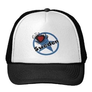 Heart Sweden Trucker Hats